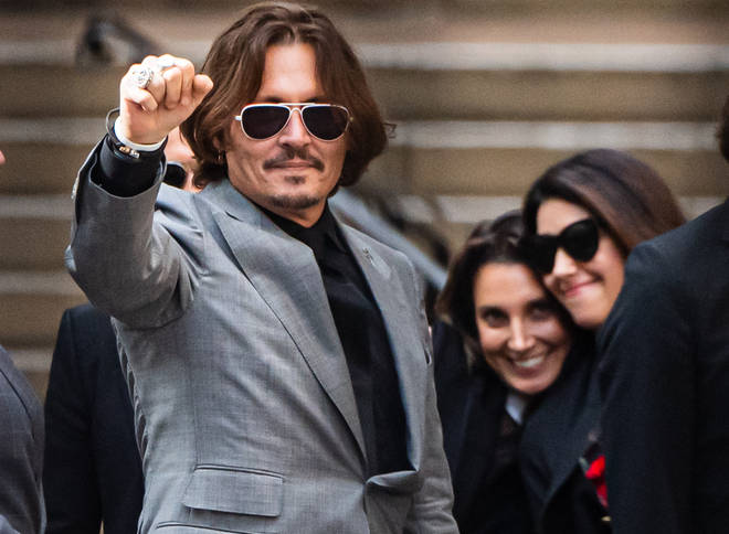 Johnny Depp in London on the final day of his libel trial