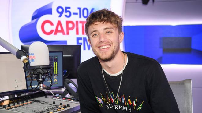 Capital Breakfast host Roman Kemp in Capital's studios