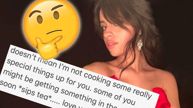Camila teased her fans with a cryptic message.