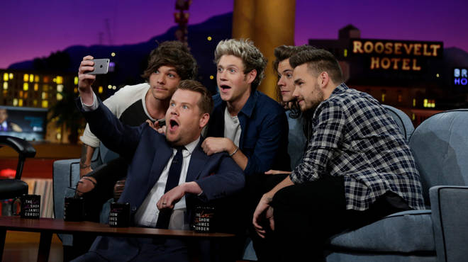 One Direction appeared on The Late Late Show in 2015