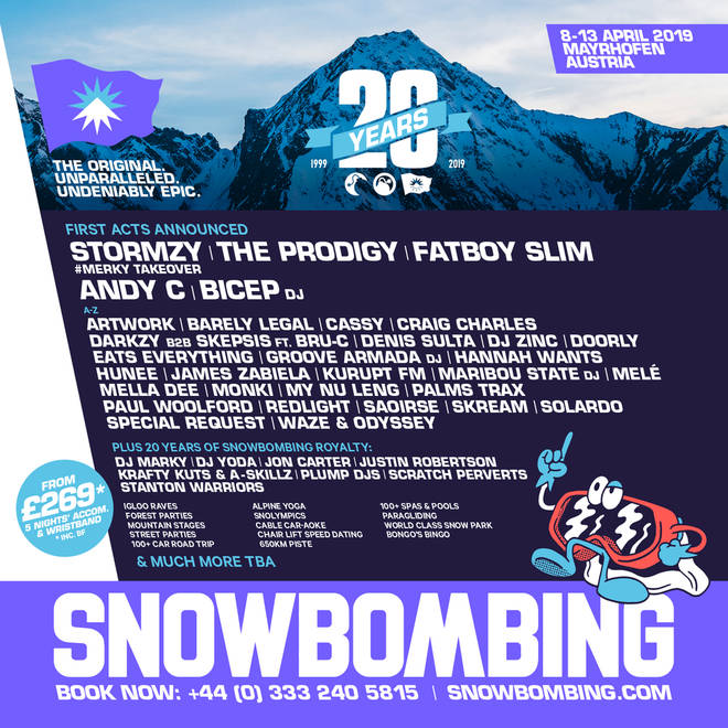 The Snowbombing line-up has been revealed.