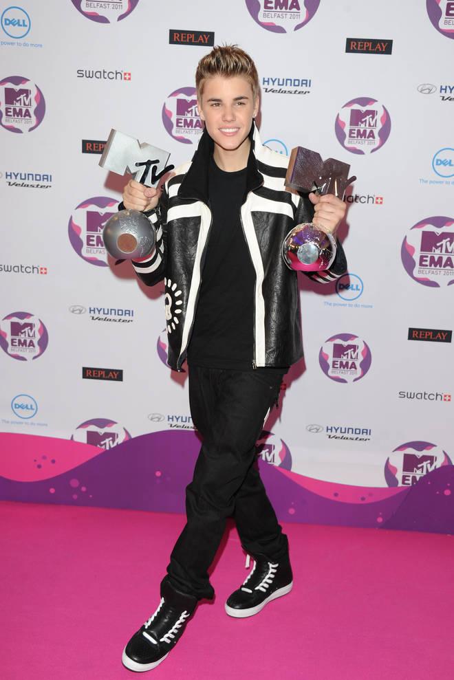 Justin Bieber at the MTV Europe Music Awards 2011