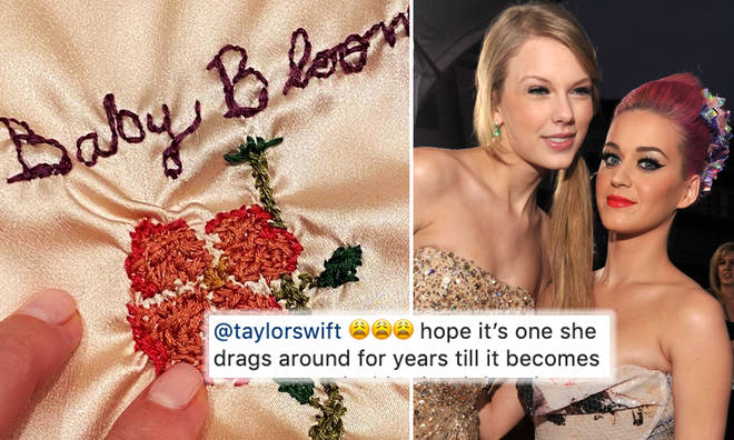 Taylor Swift gifts Katy Perry a hand embroidered baby blanket for daughter Daisy