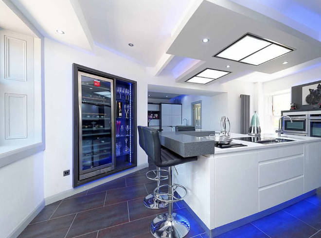 Lewis Capaldi has a built-in wine fridge in the kitchen