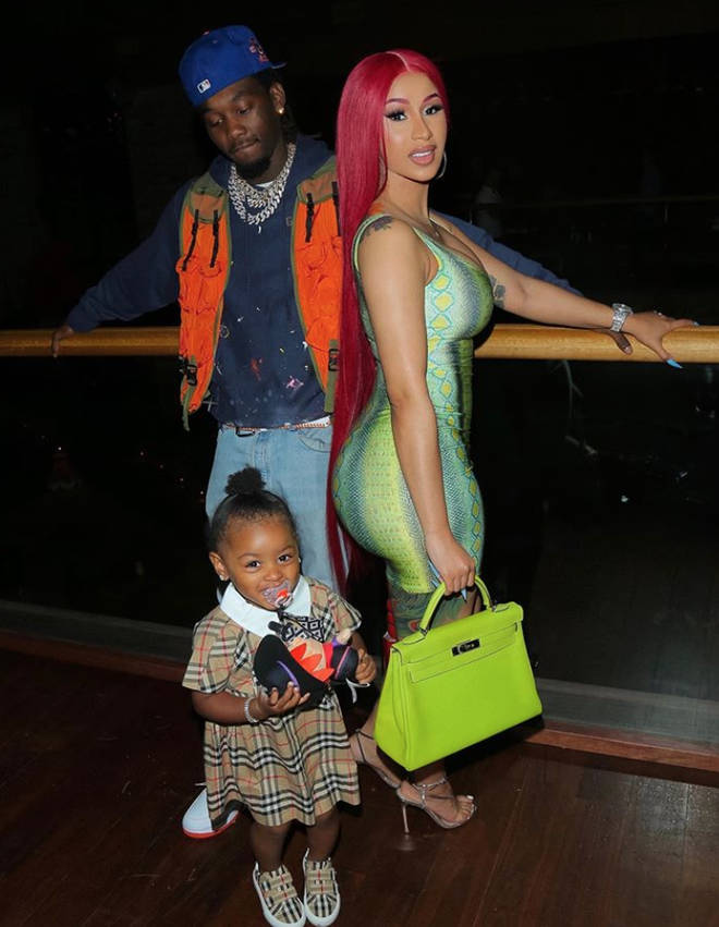 Cardi B and Offset with daughter Kulture