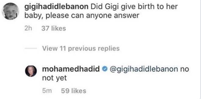 Mohamed Hadid clarifies if Gigi Hadid's given birth