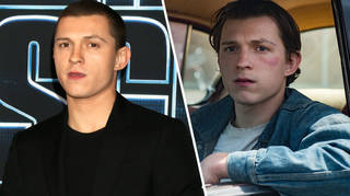 Tom Holland has slicked-back hair in The Devil All the Time