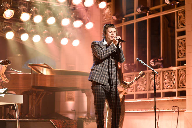Harry Styles on Saturday Night Live in 2017
