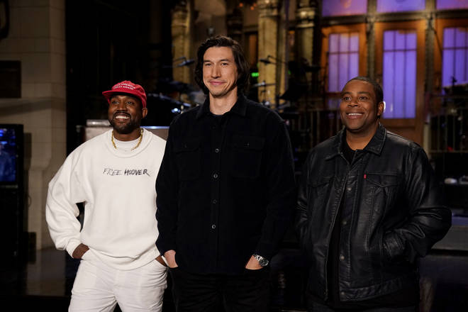 Kanye West joined Adam Driver on the season premiere of Saturday Night Live