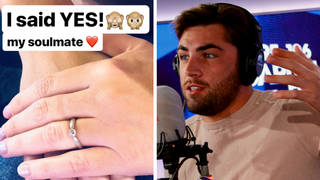 Jack Fincham was apparently woken up by his brother after wedding prank
