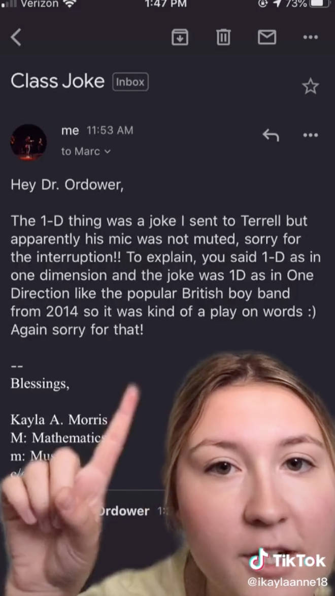 Professor listens to One Direction after joke played in his class