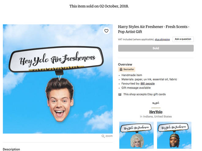 Harry Styles air fresheners sold out immediately and the reviews are hilarious