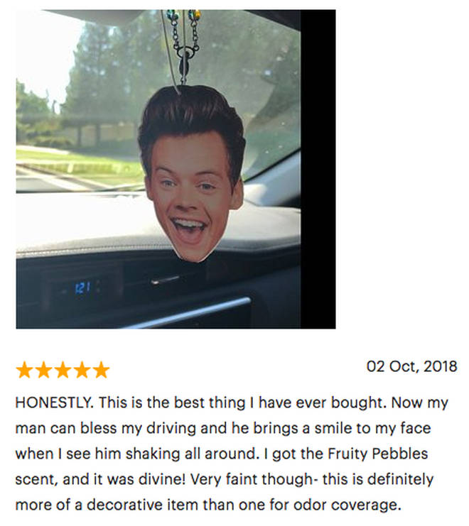 Harry Styles air freshener customer leaves hilarious review about her new purchase