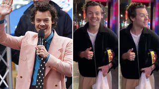 Harry Styles was stopped by a dancer in LA and was happy to watch his skills