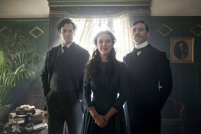 Henry Cavil (left) plays Sherlock Holmes