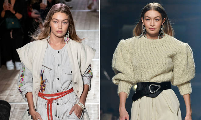 Gigi Hadid was in the first few weeks of her pregnancy at Isabel Marant's Paris fashion show