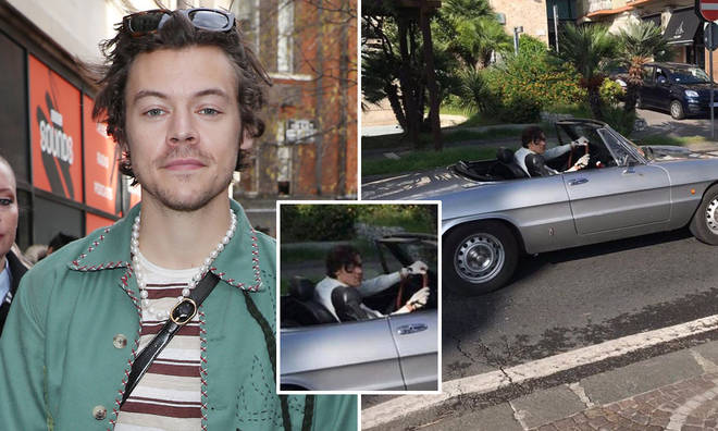 Harry Styles has been spotted filming in Italy