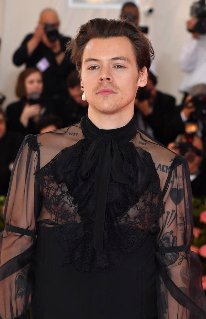 Harry Styles rocking Gucci at the Met Gala