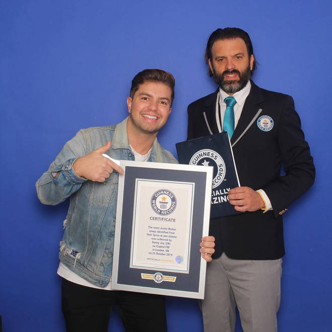 Sonny Jay received a Guinness World Record for his Justin Bieber knowledge