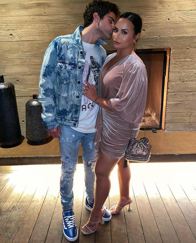 Demi Lovato hasn't commented on her split from Max Ehrich.