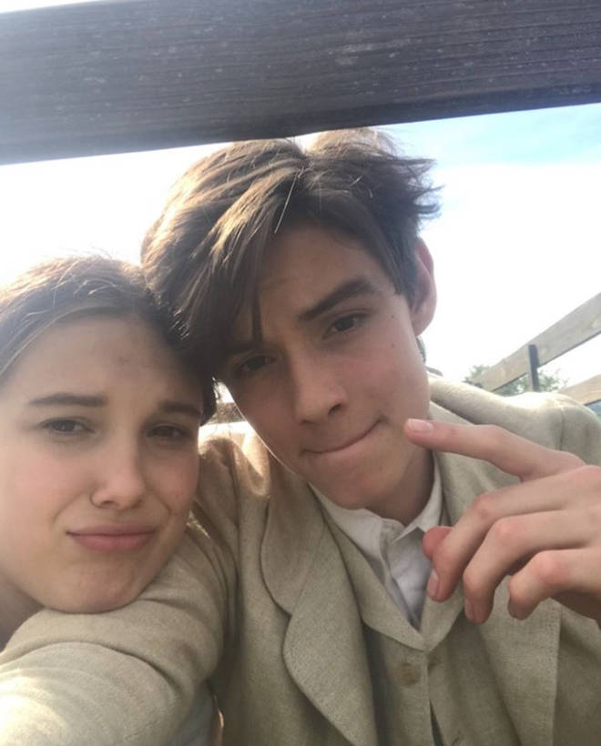 Louis Partridge has become good friends with Millie Bobby Brown