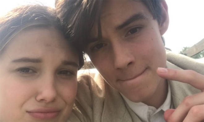 Louis Partridge and Millie Bobby Brown starred in Netflix's Enola Holmes together