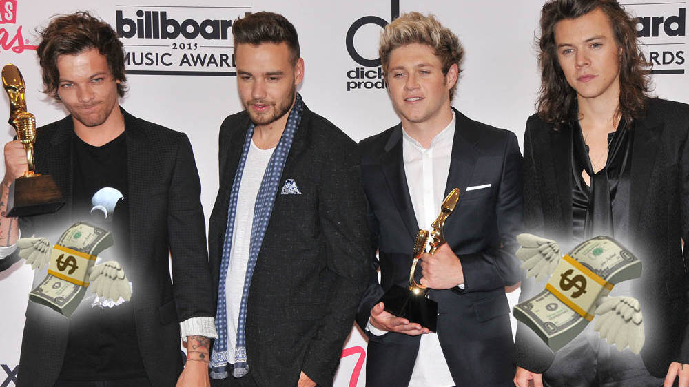 1D's 10th anniversary made the boys half a million richer in one week