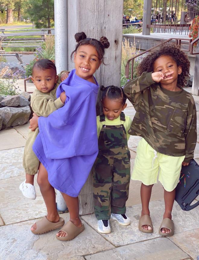 Kim Kardashian and Kanye west often share photographs of their children on social media.