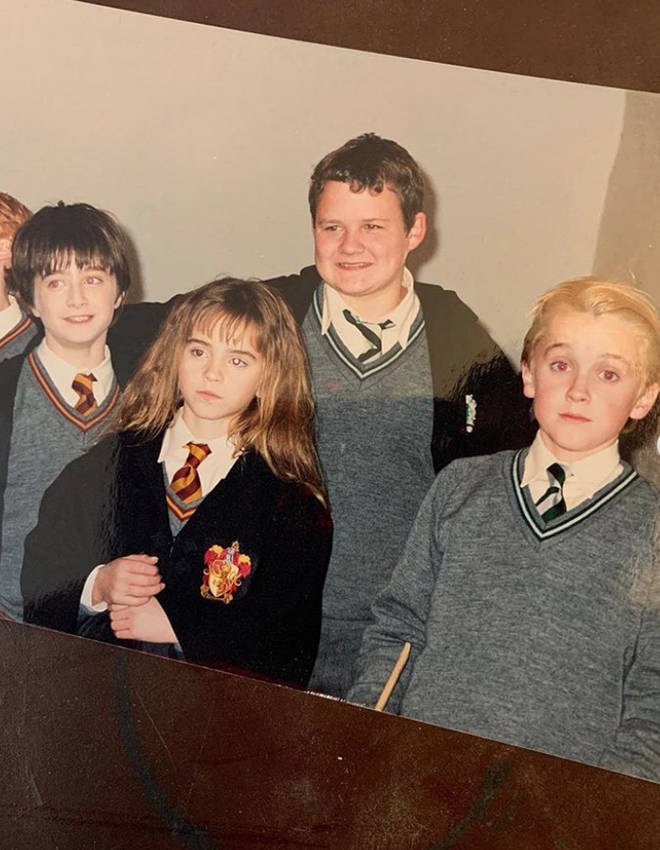 Tom Felton posted this adorable picture from the cast's Harry Potter days