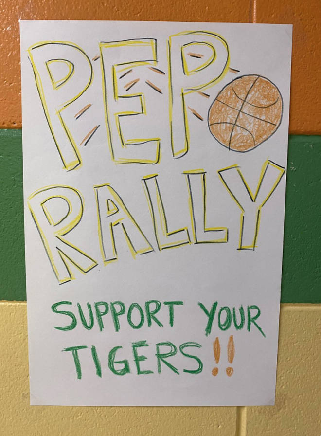 Stranger Things' writers shared a pep rally poster