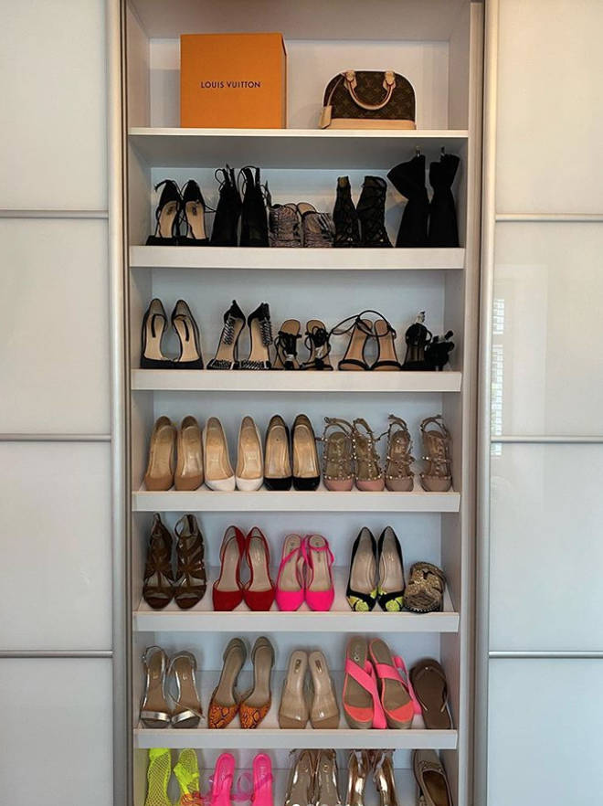 Amy Childs' wardrobes are perfectly organised