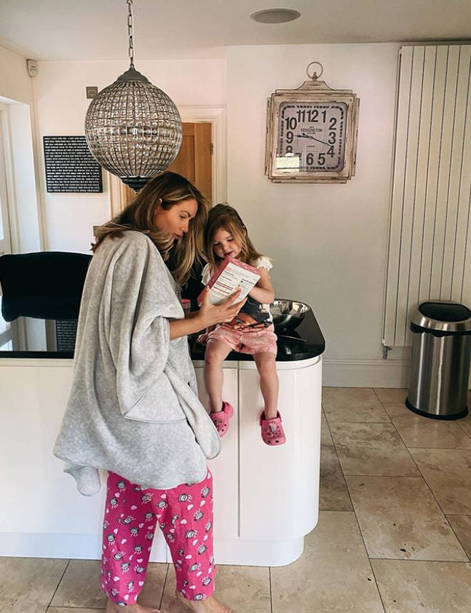 Amy Childs' kitchen is a sleek black and white theme