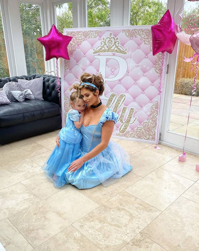 Amy Childs' daughter turned three this year