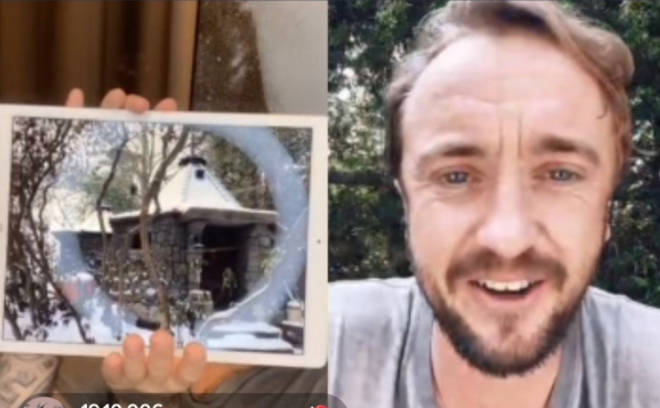 Liam Payne and Tom Felton chatted over TikTok live