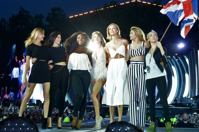 Taylor Swift brought her girl squad out on stage at her 'Reputation' tour