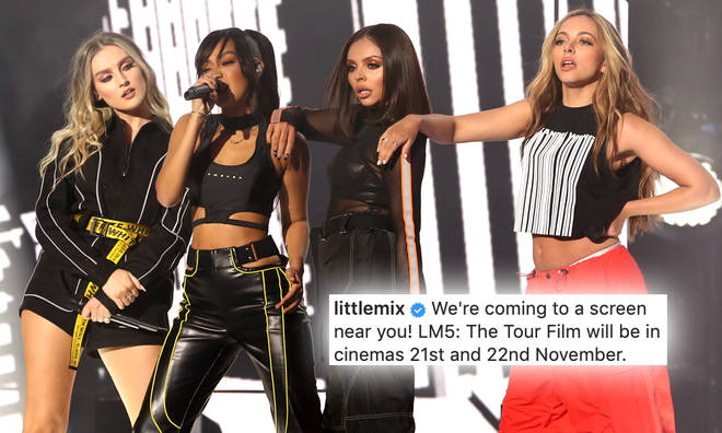 Little Mix announced the news about their new LM5: The Tour Film on Instagram.