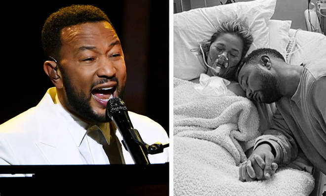 John Legend dedicates powerful performance to wife Chrissy at BBMAs