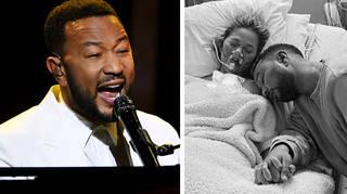 John Legend dedicates powerful performance to wife Chrissy at BBMAs