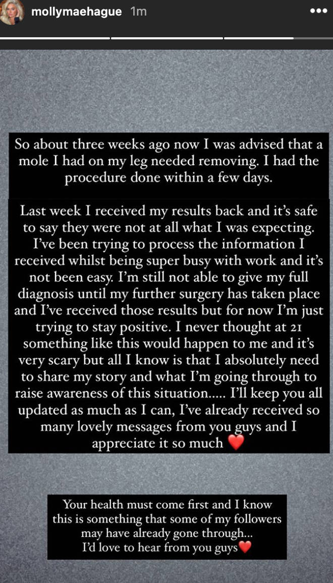 Molly-Mae shared a statement with her fans