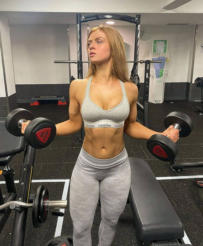 Maisie Smith often posts workout pictures in the gym