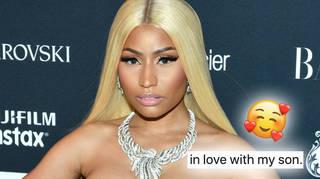 Nicki Minaj said she is 'in love with her son'.