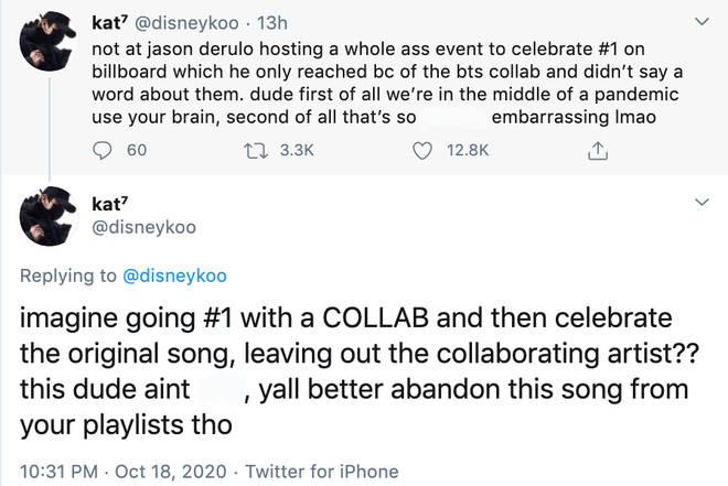 BTS fans come for Jason Derulo over number 1 celebrations
