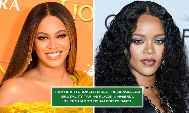 Beyoncé and Rihanna lead calls to end of SARS in Nigeria