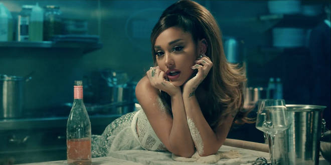 Ariana Grande sings about 'switching up positions' for her new love