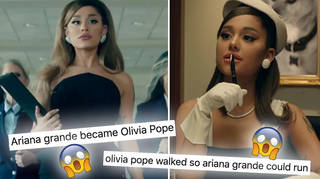 Ariana Grande is giving fans 'major Olivia Pope vibes' in her 'Positions' video.
