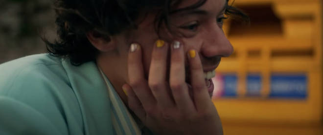 Harry Styles' nail varnish is everything