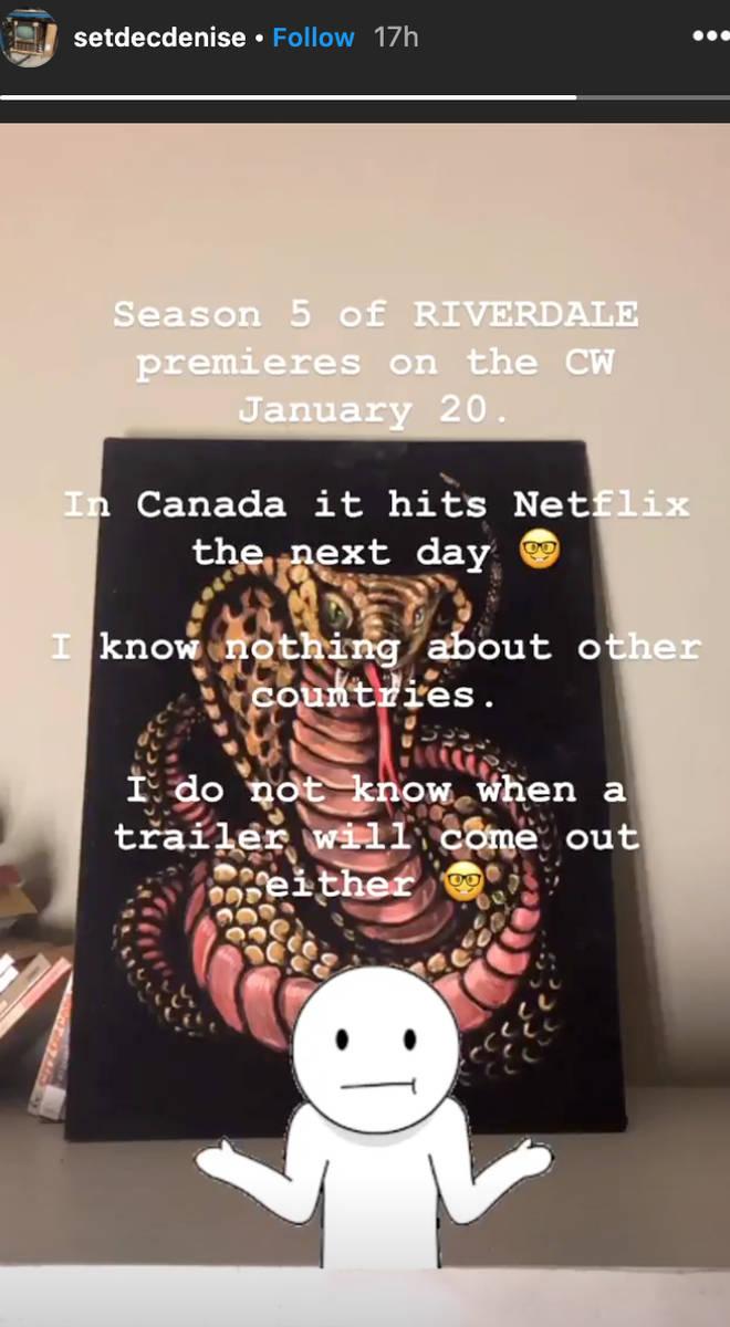 A Riverdale set decorator confirmed the season 5 start date