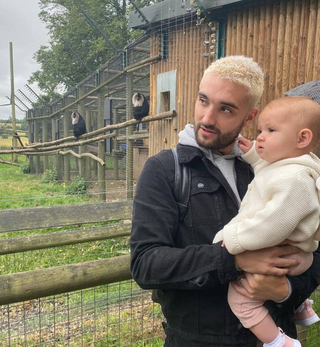 Tom Parker and wife Kelsey also have daughter Aurelia, 15 months
