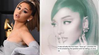Ariana Grande may have dropped a hint at the 'Shut Up' lyrics