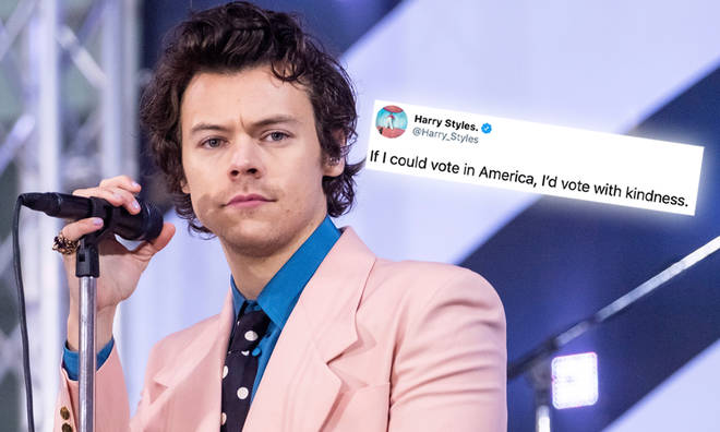 Harry Styles said he's 'vote with kindness' in the US election if he could.